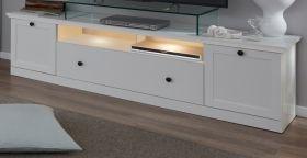 TV-Lowboard Baxter in weiß Landhaus Fernsehtisch 177 x 49 cm