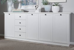 Sideboard Baxter in weiß, 195 x 88 cm Kommode im Landhausstil
