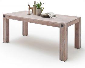 Esstisch Leeds in Eiche gekälkt massiv matt lackiert Küchentisch Massivholztisch 180 x 90 cm