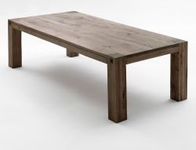Esstisch Leeds in Eiche verwittert massiv matt lackiert Küchentisch Massivholztisch 180 x 90 cm