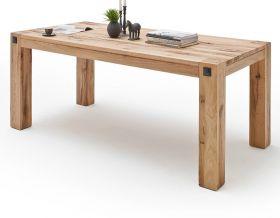 Esstisch Leeds in Wildeiche massiv matt lackiert Küchentisch Massivholztisch 180 x 90 cm