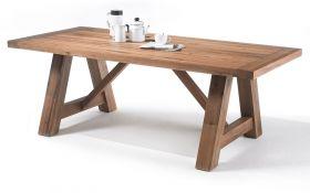 Esstisch Bristol in Eiche Bassano massiv matt lackiert Küchentisch Massivholztisch 260 x 100 cm