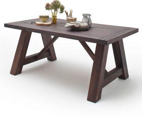 Esstisch Bristol in Eiche verwittert massiv matt lackiert Küchentisch Massivholztisch 220 x 100 cm