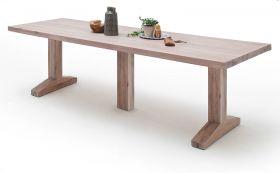 Esstisch Lunch in Eiche gekälkt massiv matt lackiert Massivholztisch 400 x 120 cm