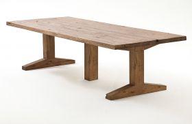 Esstisch Lunch in Eiche Bassano massiv matt lackiert Massivholztisch 400 x 120 cm