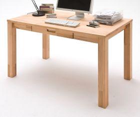 Schreibtisch Cento in Kernbuche massiv geölt / gewachst Bürotisch 140 x 80 cm