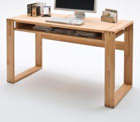 Schreibtisch Jasmin massiv, geölt, aus Kernbuche - Bürotisch 135 x 60 cm