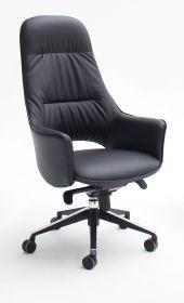 Bürostuhl Karen in Kunstleder schwarz mit Wippmechanik Chefsessel bis 120 kg