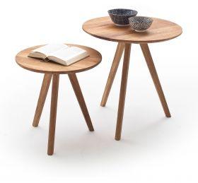 Couchtisch Genny 2er Set in Asteiche massiv geölt 2 Tische Eiche Wohnzimmer Beistelltisch