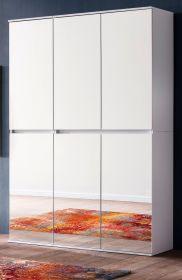 Garderobenschrank mit Spiegel Mirror in weiß mit Spiegeltüren - Schuhschrank 111 x 191 cm