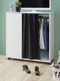 Kinder- und Jugendzimmer Kleiderschrank Sugar in weiß 1-türig Schrank 98 x 115 cm