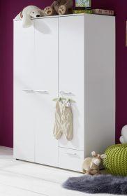 Baby- und Jugendzimmer Kleiderschrank Clever in weiß 3-türig 113 x 190 cm