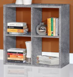 Regal System Mauro in Beton Design grau Standregal 73 x 73 cm Bücherregal quadratisch Raumteiler