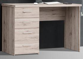 Schreibtisch Net in Sandeiche / Eiche Laptoptisch mit Schubkästen für Homeoffice und Büro 110 x 77 cm