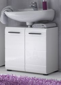 Waschbeckenunterschrank Skin weiß Hochglanz (60x56 cm)