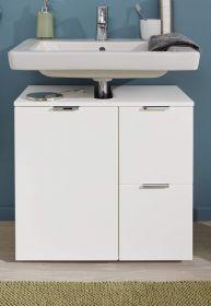 Badezimmer Waschbeckenunterschrank Concept1 in Hochglanz weiß Badmöbel 60 x 64 cm Badschrank