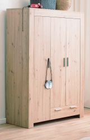 Babyzimmer Kleiderschrank Ahoi in Artisan Eiche 130 x 185 cm Kinderzimmer