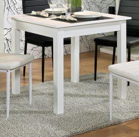 Esstisch Coburg in weiß Küchentisch ausziehbar inkl. Einlegeplatte 80 / 120 x 80 cm Holztisch
