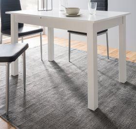 Esstisch Coburg in weiß Küchentisch ausziehbar inkl. Einlegeplatte 120 / 160 x 70 cm Holztisch