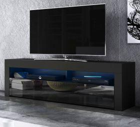 TV-Lowboard Live in Hochglanz schwarz TV-Unterteil 160 x 50 cm inkl. LED Beleuchtung