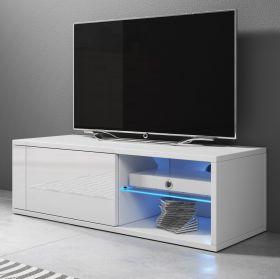 TV-Lowboard Top-B in Hochglanz weiß TV-Unterteil 100 x 36 cm inkl. LED Beleuchtung Fernsehtisch