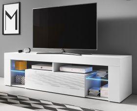 TV Lowboard Mount in weiß Hochglanz 160 x 50 cm