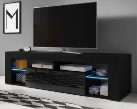 TV-Lowboard Mount in Hochglanz schwarz TV-Unterteil 160 x 50 cm TV-Möbel