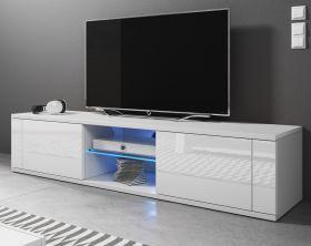 TV-Lowboard Chart in weiß Hochglanz - Fernsehtisch 140 x 30 cm