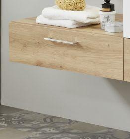 Ansatz für Waschbeckenunterschrank One in Eiche / Asteiche Badschrank 55 x 20 cm Badmöbel