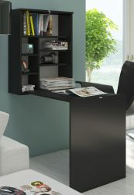 Schreibtisch Park in schwarz matt Wandtisch klappbar Computertisch 60 x 24 / 93 cm Klapptisch Laptoptisch
