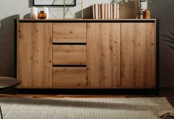 Sideboard Denver in Artisan Eiche und Anthrazit Kommode im Industrial Look 160 x 88 cm
