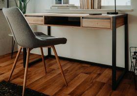 Schreibtisch Denver in Artisan Eiche und Anthrazit im Industrial Look 120 x 60 cm