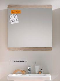 Badezimmer Spiegel Malea in Eiche San Remo hell Badspiegel 65 x 70 cm