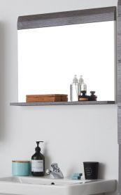 Badezimmer Spiegel Line in Sardegna grau Rauchsilber Badspiegel 60 x 55 cm