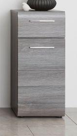 Badezimmer Unterschrank Line in Sardegna grau Rauchsilber Bad Kommode 30 x 80 cm Standschrank