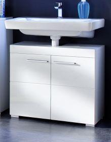 Waschbeckenunterschrank Amanda weiß Hochglanz, 2-türig (60x56 cm)