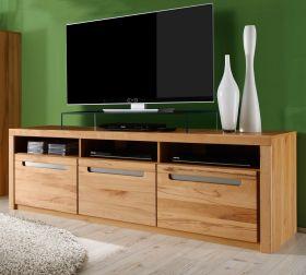 Wohnzimmer: TV-Lowboard Zino Kernbuche teil massiv (180x60 cm)