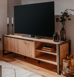 TV-Lowboard Denver in Artisan Eiche und Anthrazit im Industrial Look 160 x 55 cm