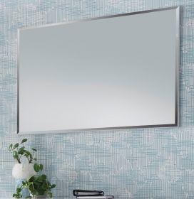 Garderobenspiegel Cervo Rahmen in matt weiß lackiert Spiegel 85 x 60 cm