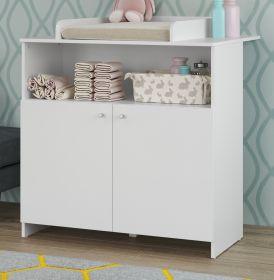 Babyzimmer Wickelkommode Niko in weiß Babymöbel Wickeltisch 96 x 103 cm