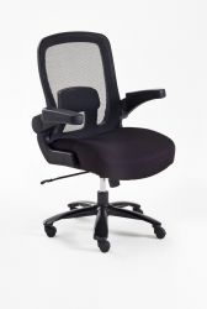 Bürostuhl Real Comfort in schwarz mit Wippmechanik Chefsessel bis 220 kg