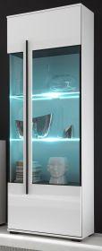 Vitrine Design-D in Hochglanz weiß Vitrinenschrank 60 x 200 cm