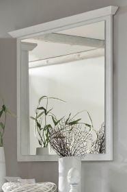 Garderobenspiegel Hooge in Pinie weiß Landhaus Wandspiegel 92 x 99 cm