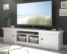 TV-Lowboard Hooge in Pinie weiß Landhaus TV-Unterteil 194 x 51 cm