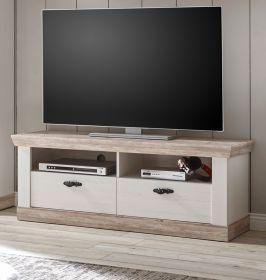 TV-Lowboard Rovola in Pinie weiß / Oslo Pinie Landhaus TV-Unterteil 134 x 51 cm