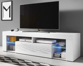TV Lowboard Mount in weiß Hochglanz 140 x 51 cm