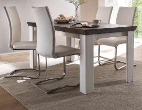 Esstisch Corela in Pinie weiß und Wenge Landhaus Küchentisch 160 x 90 cm