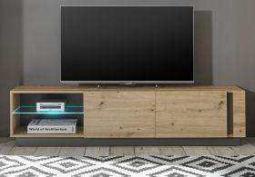 TV-Lowboard Louna in Eiche Artisan und Graphit grau TV-Unterteil 188 x 46 cm