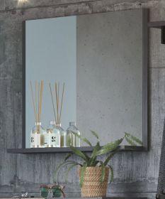 Garderobenspiegel Otis in Matera grau Wandspiegel mit Ablage 83 x 72 cm