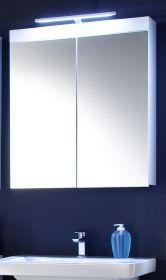Badezimmer Spiegelschrank Amanda Hochglanz weiß tiefgezogen 2-türig